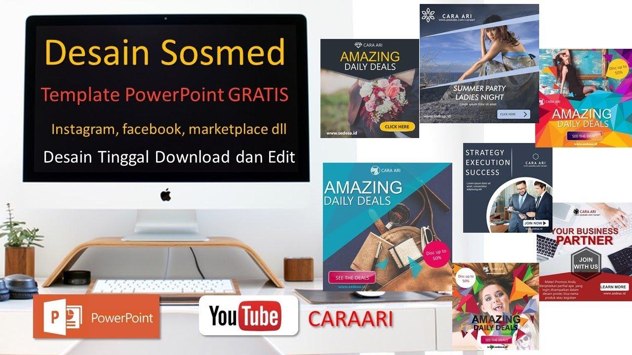 Download Desain Powerpoint Untuk Jualan Gratis Tinggal Edit Sedesa Id