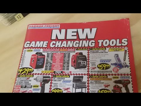 Harbor Freight October Catalog...New Game Changing Tools !!