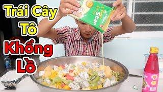 Lâm Vlog - Làm Thau Trái Cây Tô Khổng Lồ Cho 10 Người Ăn