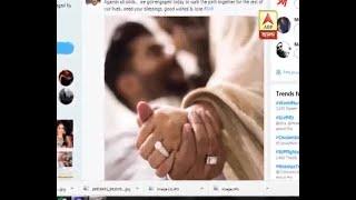 Wish for Raj Chakraborty and Subhasree Ganguly on social media