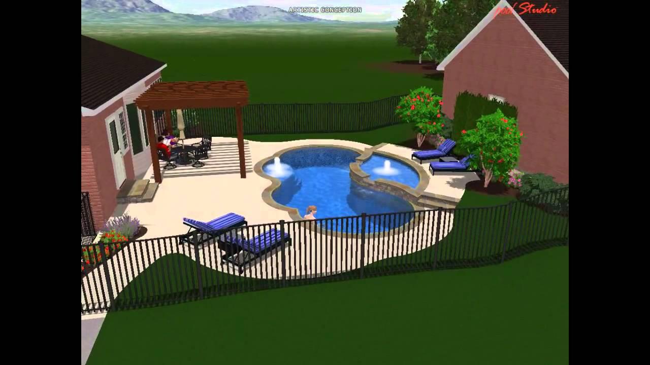 stephens gemini fiberglass pool u0026 tanning ledge youtube