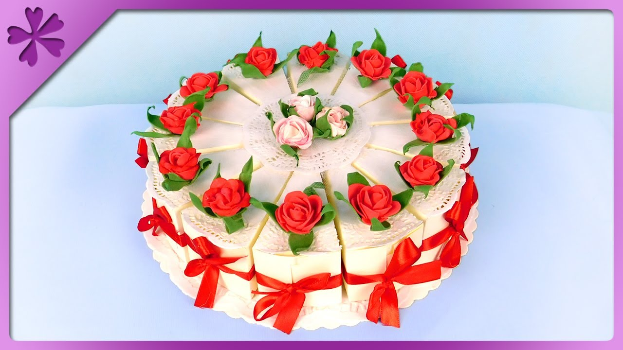 Diy How To Make Paper Cake For Wedding Birthday Communion Eng