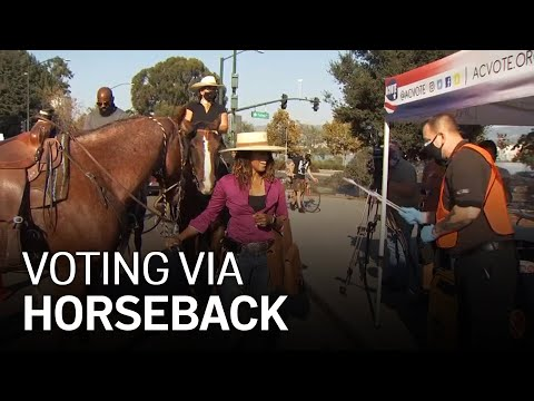 Equestrian Drops Off Ballot Via Horseback, Calls on Others to Vote Early