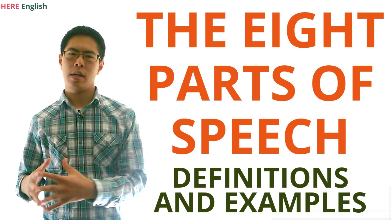 Parts of speech grammar lesson noun verb pronoun adjective