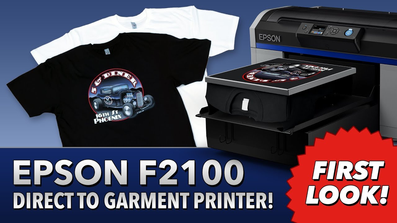 d012658b Epson SureColor F2100 Direct To Garment Printer - First Look! - YouTube