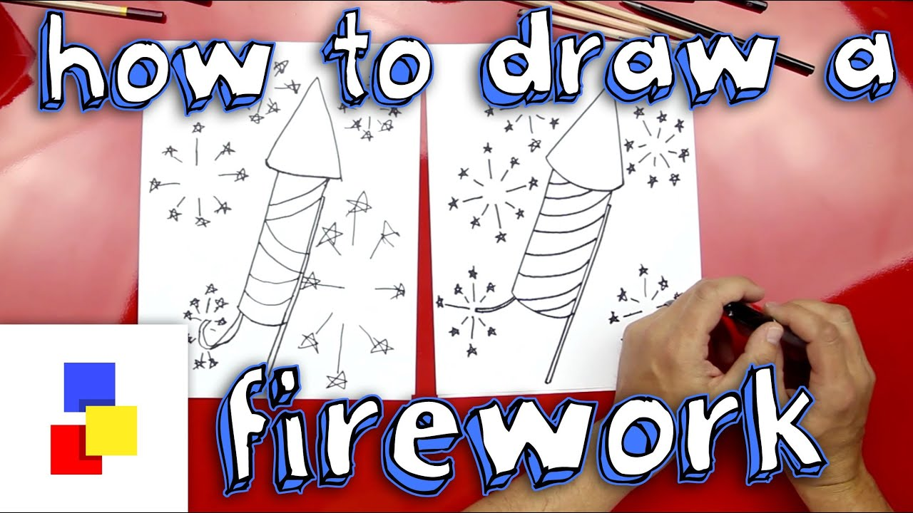 How To Draw A Firework Youtube