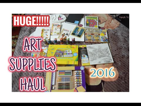 HUGE ART SUPPLIES HAUL 2016 !! | ART UNBOXING
