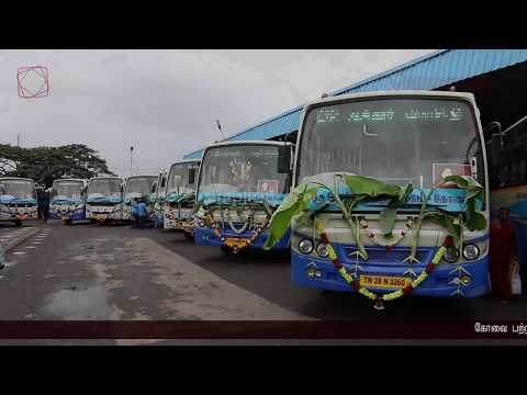 25 new buses flagged off by Minister SP Velumani from Ukkadam bus stand