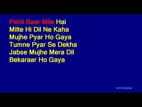 Pehli Baar Mile Hai - S. P. Balasubrahmanyam Hindi Full Karaoke with Lyrics