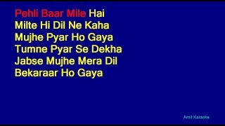 Pehli Baar Mile Hai - S. P. Balasubrahmanyam Hindi Full Karaoke with Lyrics