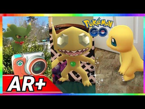 RARE SHINIES with GO SNAPSHOT AR+ in Pokemon Go! SHINY SABLEYE - MISDREAVUS & MORE thumbnail