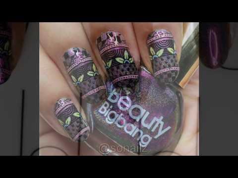 Mandala Nail Art Tutorial | BornPrettyStore | Reverse Stamping thumbnail