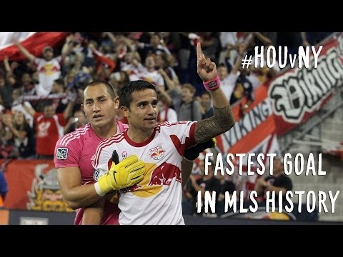 GOAL: Tim Cahilll scores fastest goal in MLS history | Houston Dynamo vs. NY Red Bulls