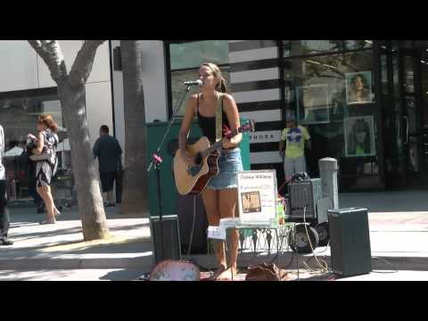 Chelsea Williams sings Blackbird at 3rd St Promenade