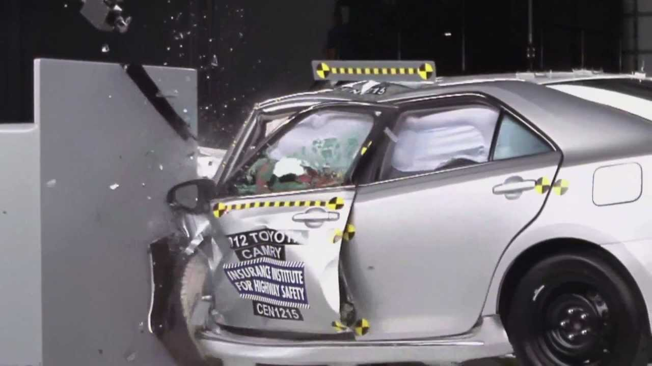 toyota camry gets slammed in new crash test. Black Bedroom Furniture Sets. Home Design Ideas