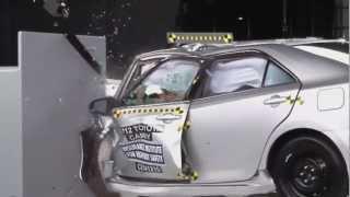 2012 Crash Test Toyota Camry IIHS Small Overlap Test [Poor]