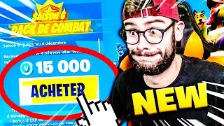 J'ACHETE LE PASS DE COMBAT ENTIER DE LA SAISON 6 FORTNITE BATTLE ROYALE !!!