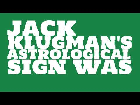 What was Jack Klugman's birthday?
