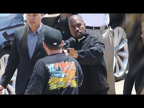 Kanye West Lashes Out At Paparazzi At Nobu Malibu