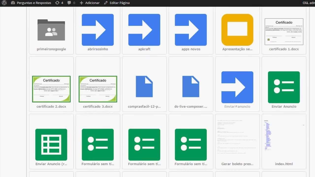 Integração do Google Drive no seu WordPress