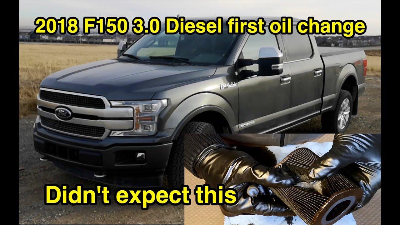 Ufe0f 2018 Ford F150 V6 Diesel Engine Oil Change And Filter Inspection