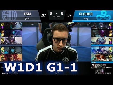 TSM vs C9 Game 1   S7 NA LCS Spring 2017 Week 1 Day 1   TSM vs Cloud 9 G1 W1D1