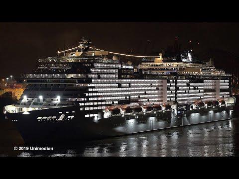MSC GRANDIOSA | new record | maiden call of biggest cruise ...