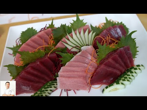 How To Fillet A Whole Bluefin Tuna For Toro Sashimi Plate