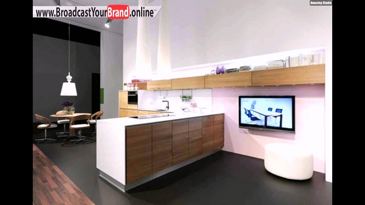 Praktische Weiße Kücheninsel Wohnzimmer - YouTube