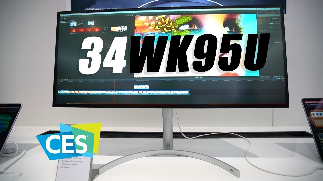 LG 34-inch Ultrawide 5K Monitor (34WK95U) - First Look at CES 2018