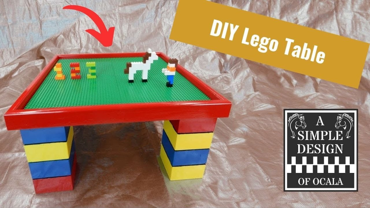 How to Build a Lego Table & How to Build a Lego Table - YouTube