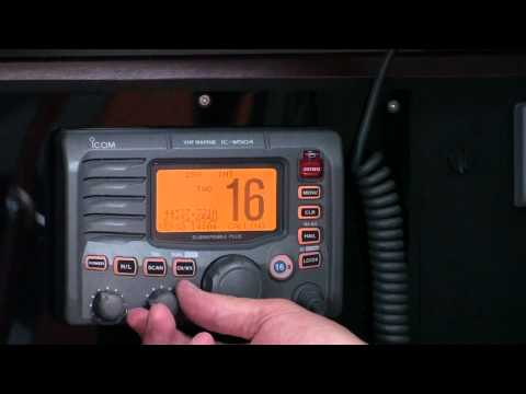 Introduction to using the VHF radio