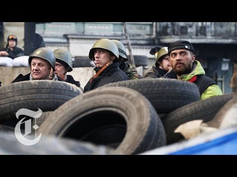 Ukraine Protest 2014: Protecting Independence Square in Kiev | The New York Times
