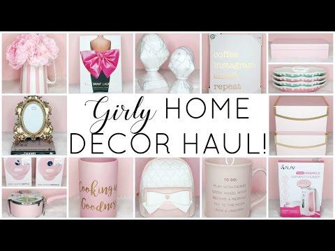 GIRLY HOME DECOR HAUL! ♡ HomeGoods, TJ Maxx, Marshalls, Hobby Lobby & Betsey Johnson