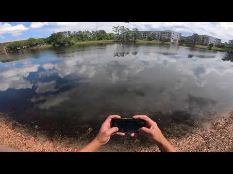 Dji Ryze Tello Flying on waters Fast mode or Sport mode!!