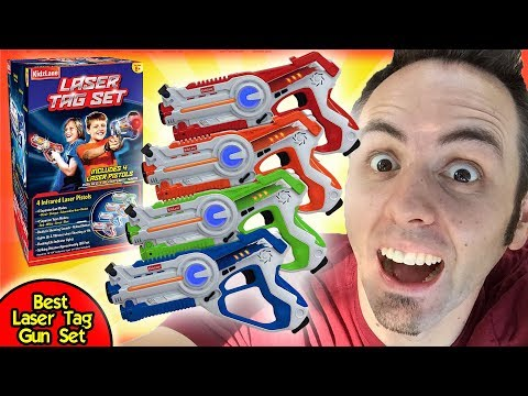 BEST LASER TAG GUN SET | Kidzlane Infrared Laser Tag Unboxing And First Look Review