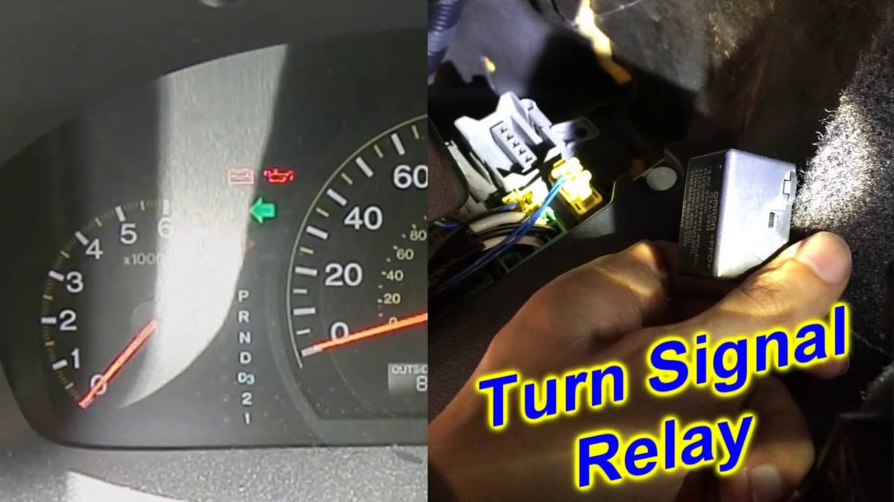Honda Accord Turn Signals  Blinkers  Hazard Lights  problem & fix  turn signal relay  YouTube