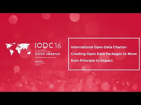 Room A - International Open Data Charter: from Principle to Impact