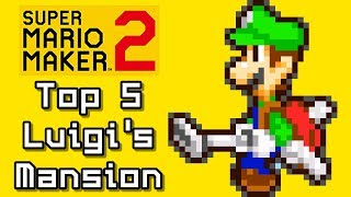Super Mario Maker 2 Top 5 LUIGI'S MANSION Courses (Switch)
