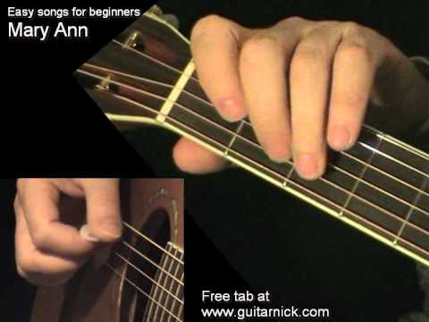 MARY ANN: Easy Guitar Lesson + TAB by GuitarNick
