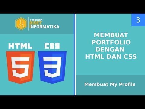 Membuat Portfolio Dengan HTML Dan CSS #3 Membuat My Profile