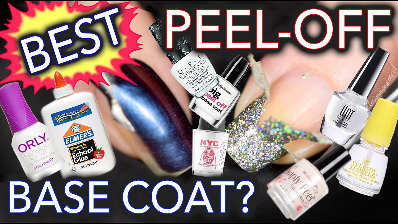 Best Peel-Off Base Coat - 32 TESTS DONE!!!! - YouTube