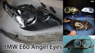 BMW E60 Angel Eyes или как заменить ангельские глазки (4K)