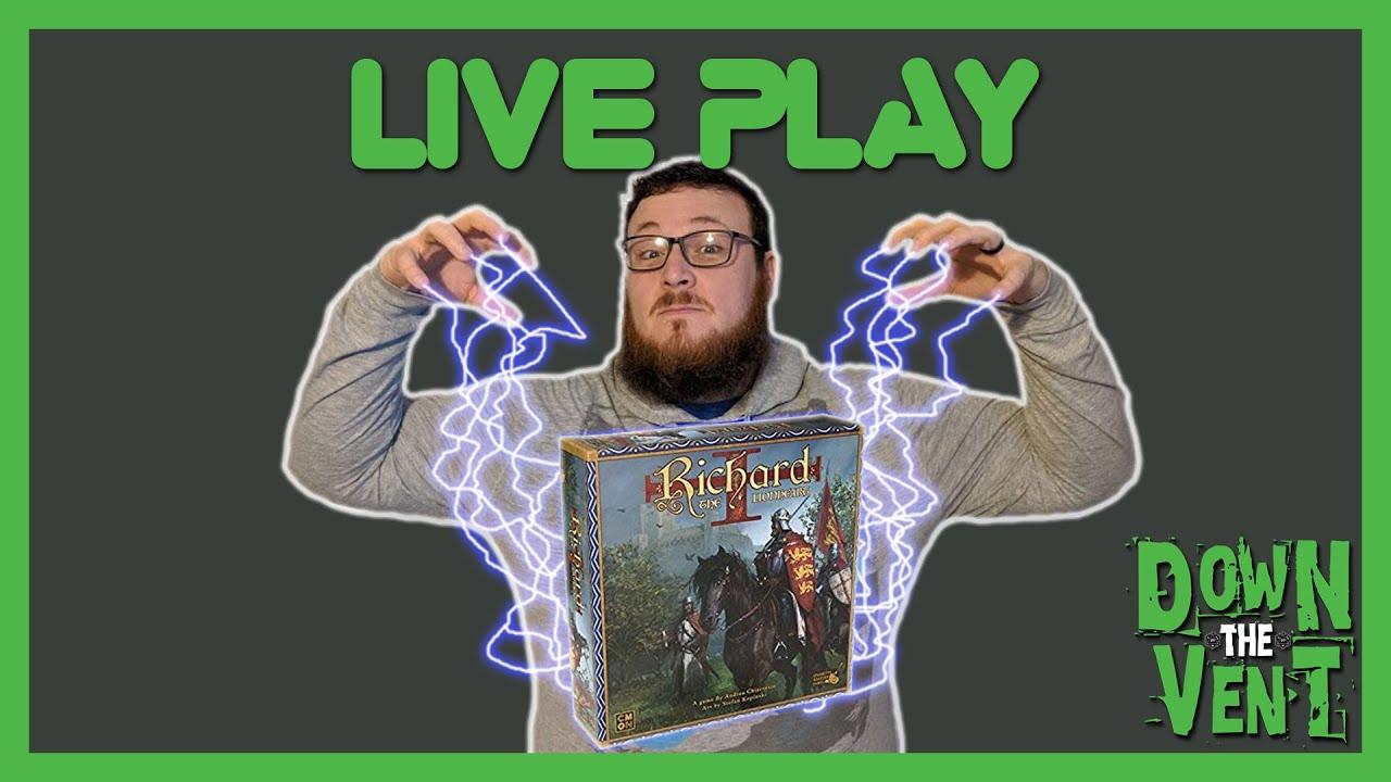 Richard The Lionheart Board Game Play Through Youtube