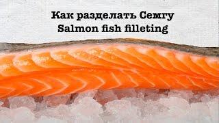 Як обробити Сьомгу. Майстер-клас з розбирання Сьомги. Fish filleting. How to fillet a Salmon fish