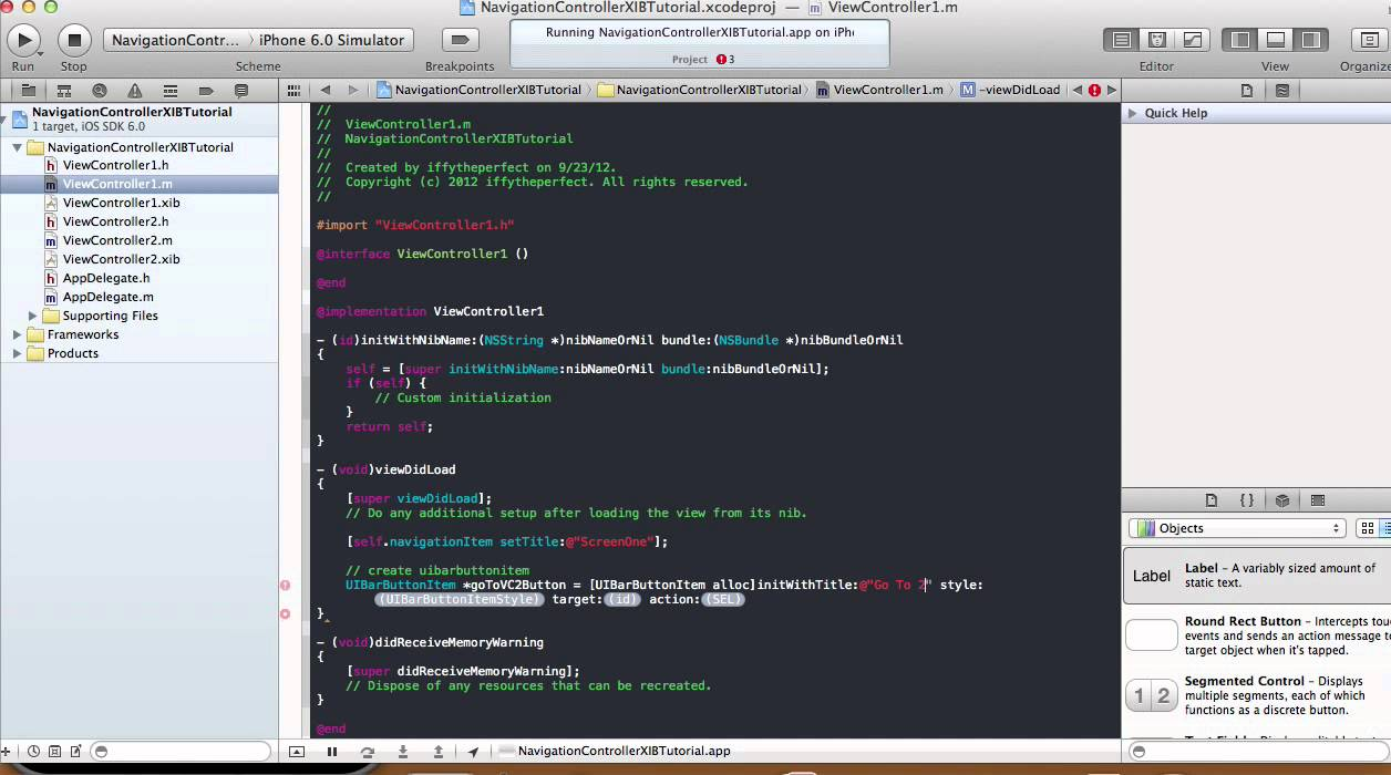 Programmatically Create NavigationController - Xcode 4 5