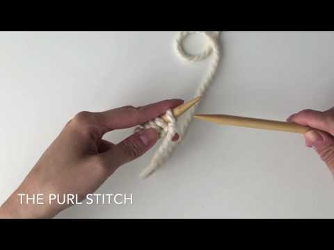 KNITTING FOR BEGINNERS: How To Knit The Stockinette Stitch
