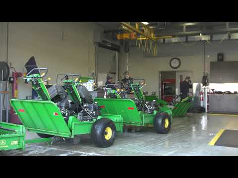 Inside The Maintenance Facility At TPC Sawgrass