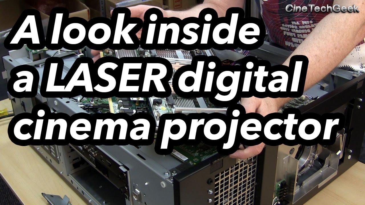 A look inside a LASER digital cinema projector : NEC NC1100L