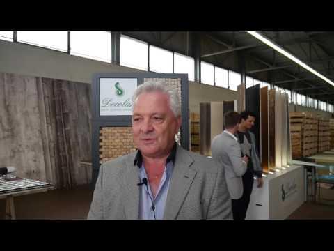John Bailey at Decolan's warehouse in Balerna, Switzerland